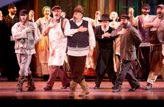 Harvey Fierstein and the Company Photo by Carol Rosegg