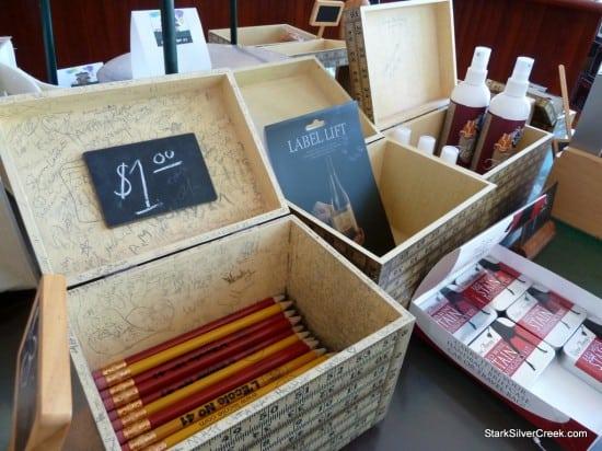 L'Ecole No. 41 winery tasting room chalk pencils, Walla Walla