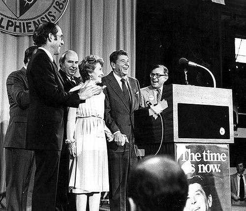Budd Dwyer with President Reagan