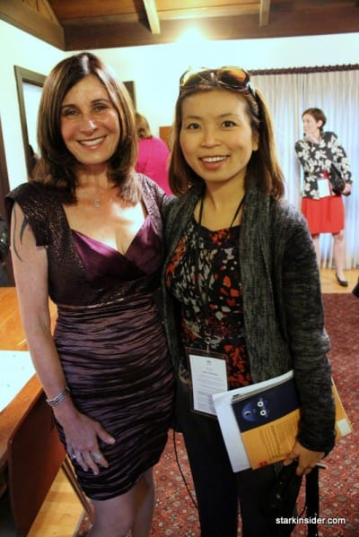 Screenwriter Pamela Gray (CONVICTION) with Loni Kao Stark