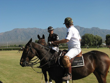 Polo players at Cheval des Andes
