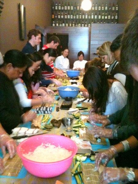 My classmates at Sushi 101 class