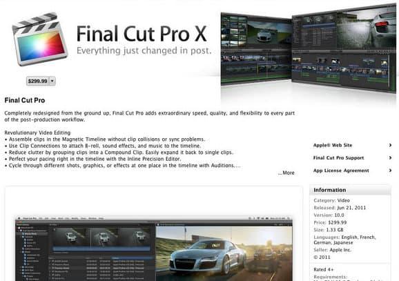 Final Cut Pro X early reviews not good - Apple blocks the masses