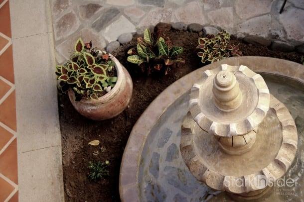 Fountain in Loreto Bay home.
