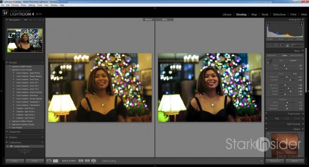 Before and After with Adobe Lightroom.