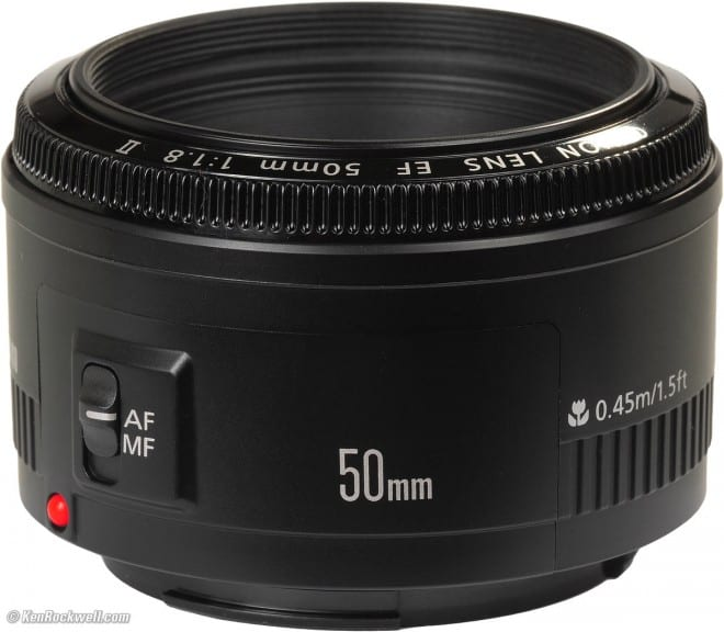 Nifty Fifity: At just over $100, this Canon 50mm lens is the deal of a lifetime.