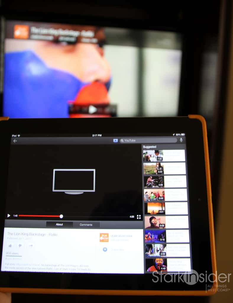 How To Stream Youtube Videos To A Tv Using An Iphone Ipad Stark Insider