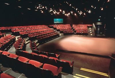 Interior of San Jose Stage theater, downtown San Jose.