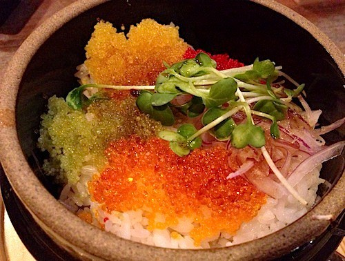 Fish roe don perfect for dessert
