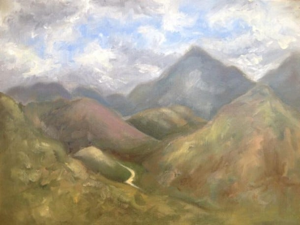 Sierra de la Giganta Painting
