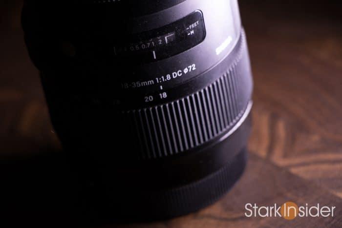 Sigma 18-35mm lens close-up