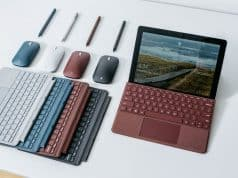 Microsoft bets big on tiny computers with Surface Go tablet/laptop.