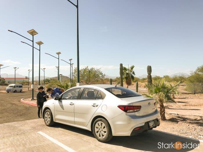 Rental car at Loreto Airport, Baja California Sur