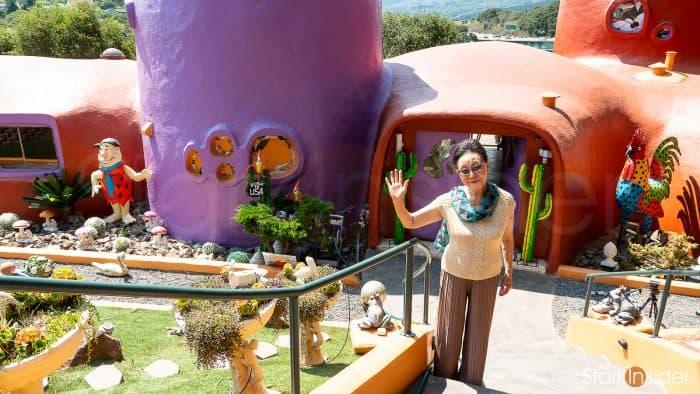 Florence Fang owner of Flintstone House, Hillsborough, California