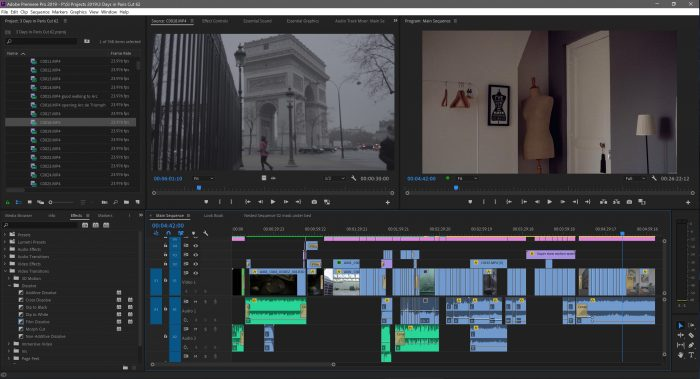 3 Days in Paris by Clinton and Loni Stark edit in Premiere Pro