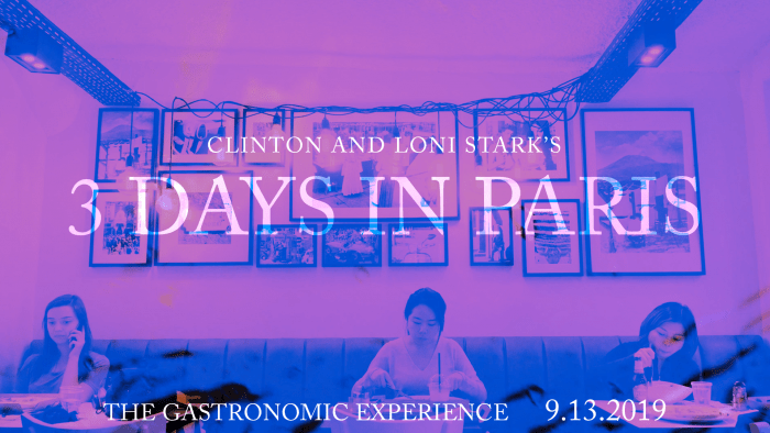 3 Days in Paris Countdown 5 - The Gastronomic Experience by Clinton and Loni Stark