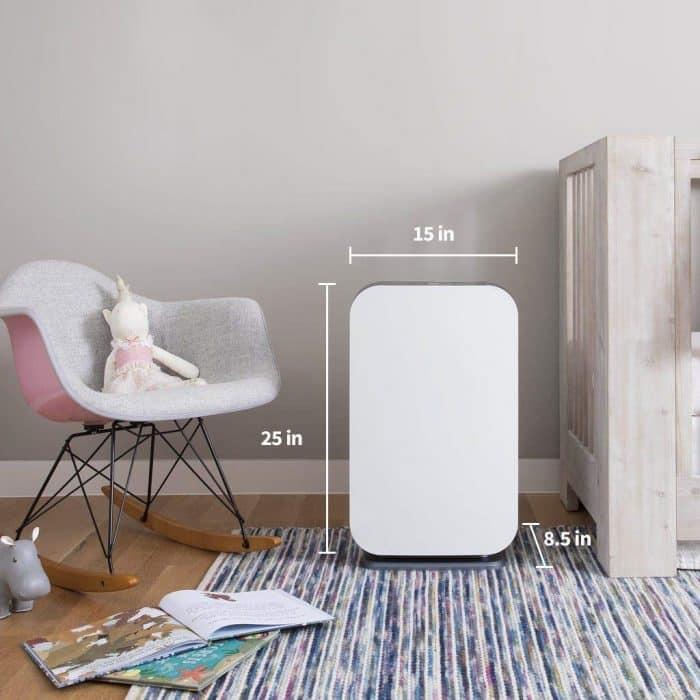 Alen BreatheSmart FLEX Air Purifier - dimensions