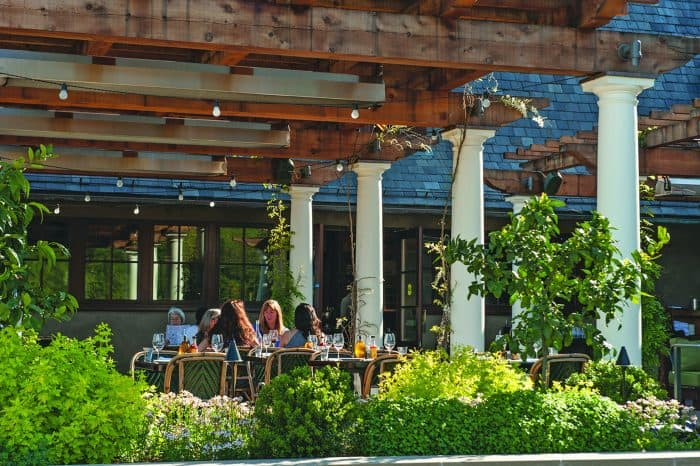 Francis Ford Coppola patio. Photo: Robert Holmes