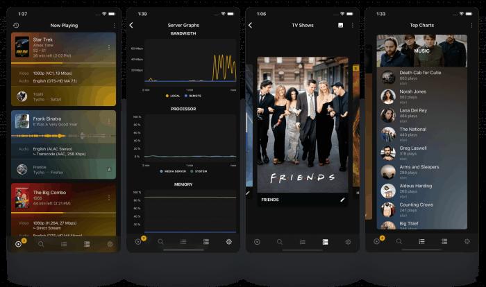 Plex Dash remote admin app