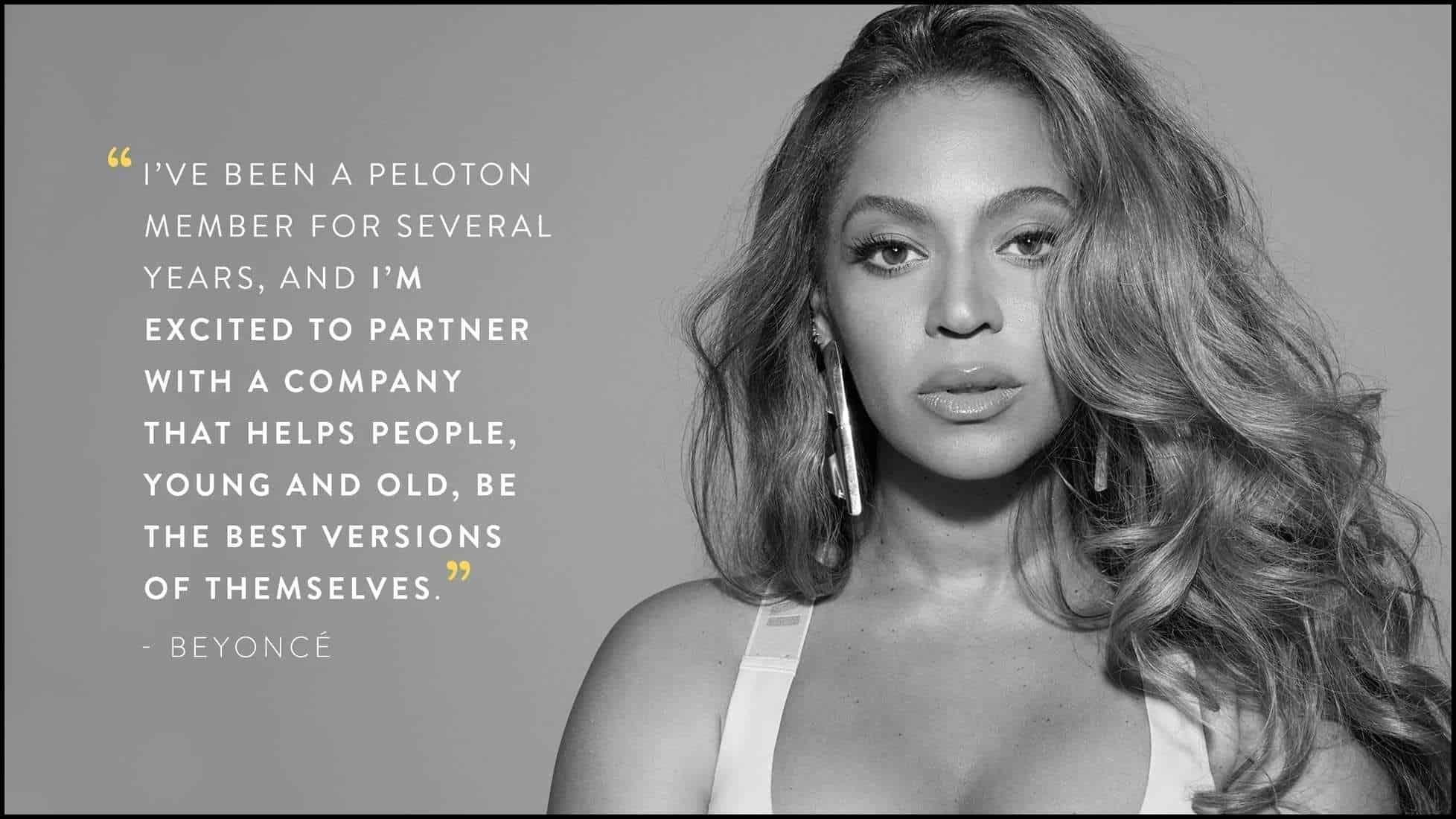 Beyoncé and Peloton partnership - Artist Series workouts - Announcement