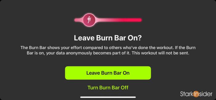 Apple Fitness+ Burn Bar workout effort comparison