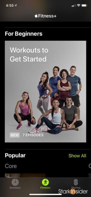 Apple Fitness+ beginner classes