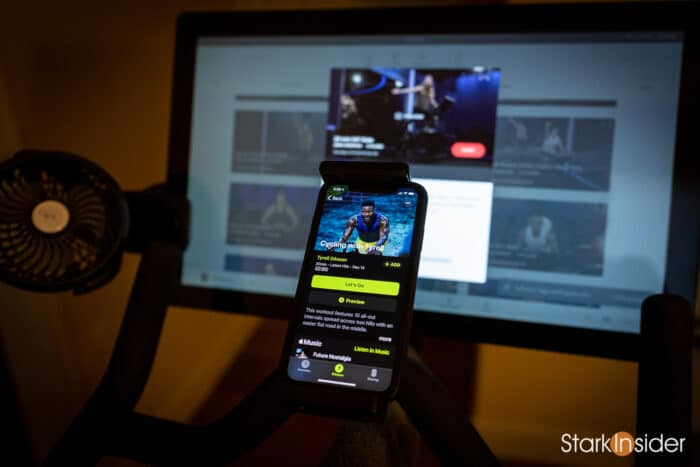 Comparing Apple Fitness+ app to Peloton Bike and app for cycling
