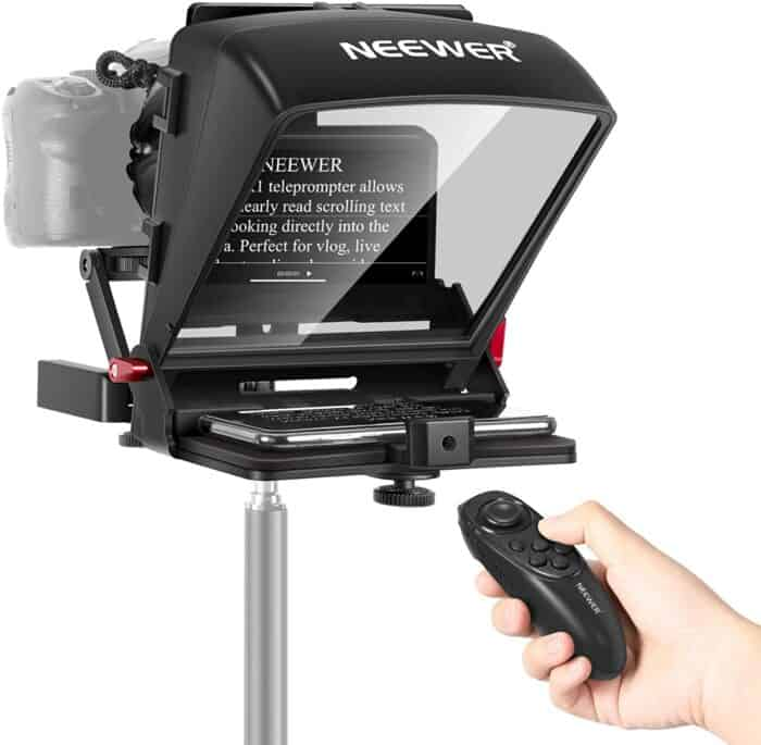 Teleprompter for at home corporate video presentations