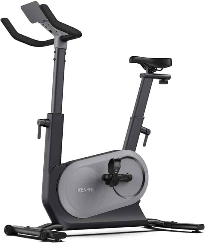 RENPHO AI-Powered Exercise Bike, Indoor Cycling Bike with FTP Power Training, Auto Resistance Stationary Bike, Scenic Riding for Home Workout with Tablet
