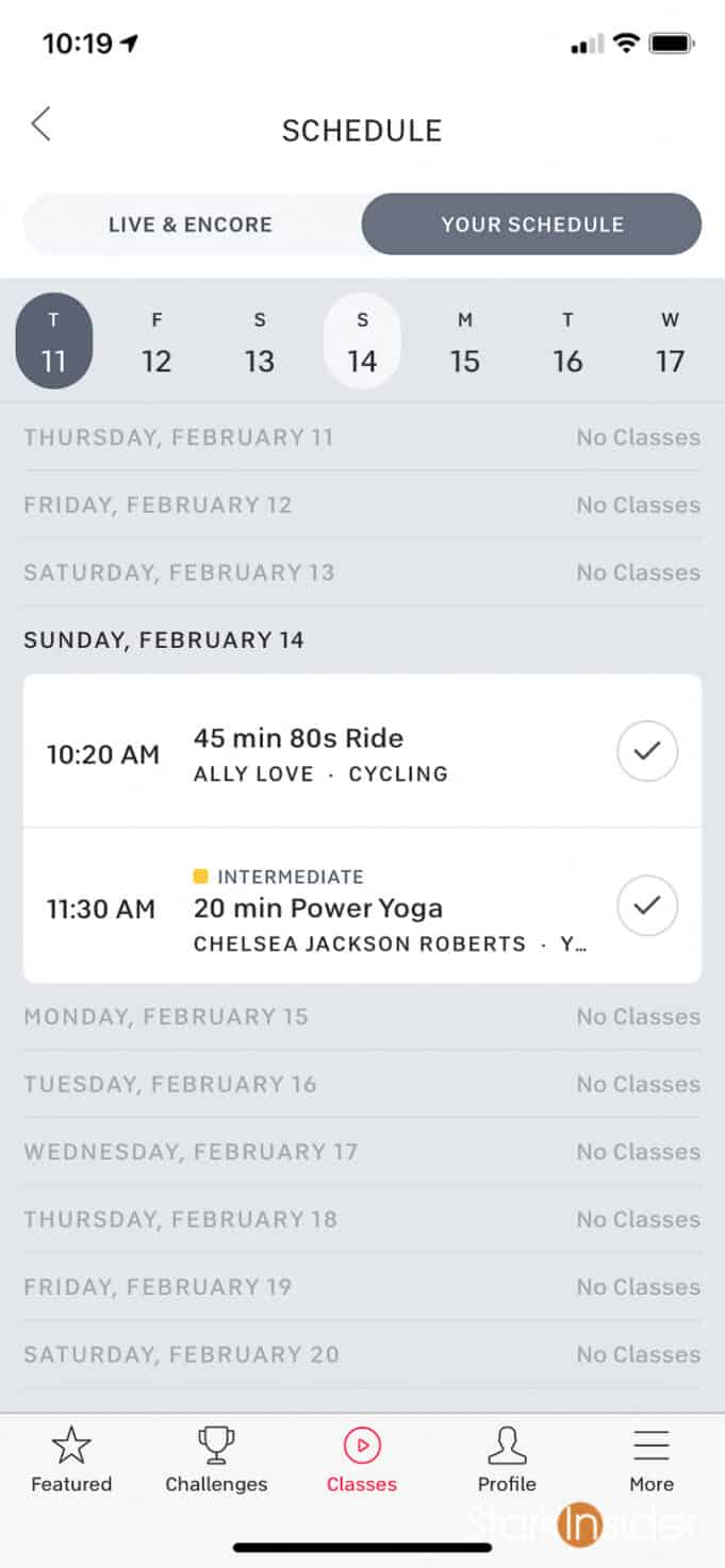 Peloton Schedule Feature - How to build a custom calendar of workout classes using the Peloton app