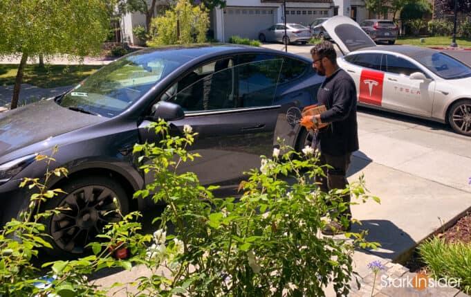 Tesla Mobile Service installing Homelink
