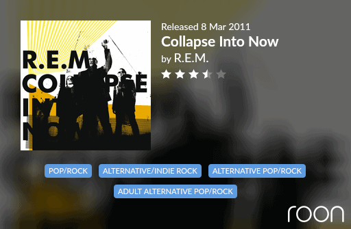 Collapse Into Now Allmusic Review 2011 REM revisited