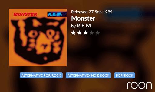 Monster Allmusic Review 1994 REM revisited