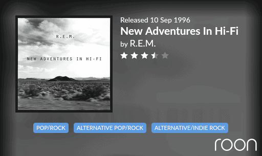 New Adventures In Hi-Fi Allmusic Review 1996 REM revisited
