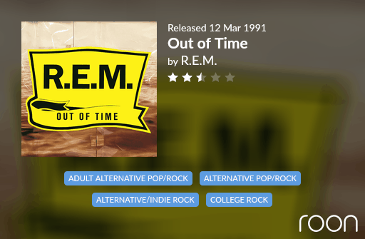 Out of Time Allmusic Review 1991 REM revisited