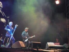 R.E.M. on tour in 2008