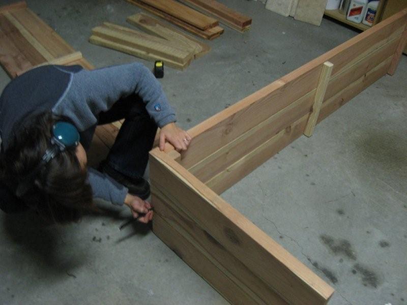 Marking wood on planter box